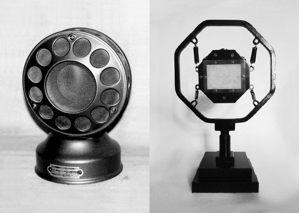 炭素マイクとライツ・マイクロフォン