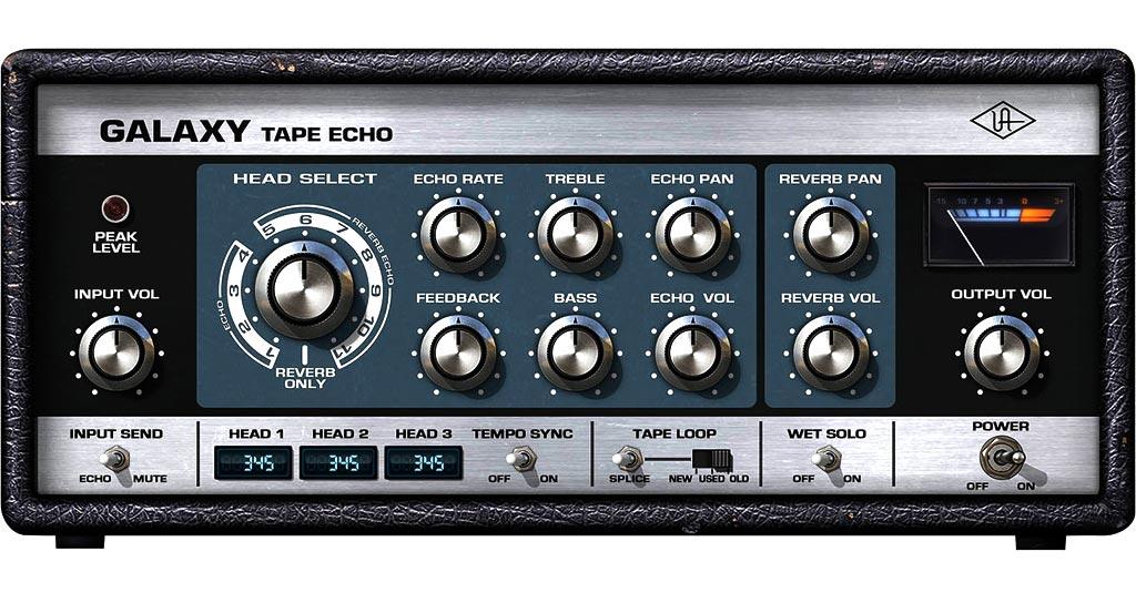 Universal Audio社のプラグイン、「Galaxy Tape Echo」のスクリーンショット。