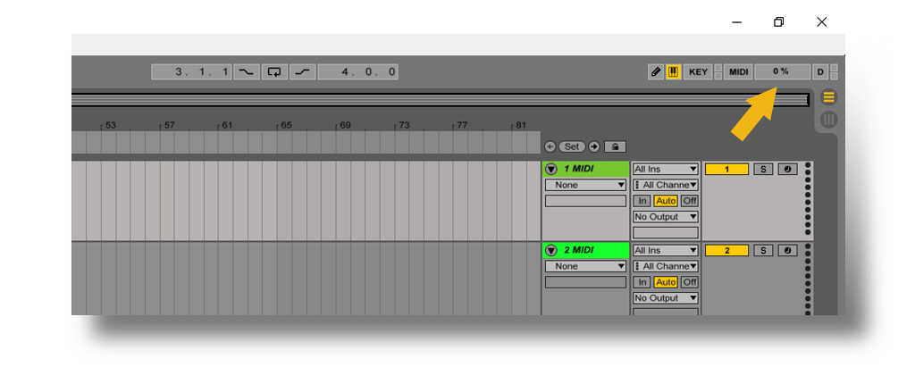 Ableton Live CPUメーター