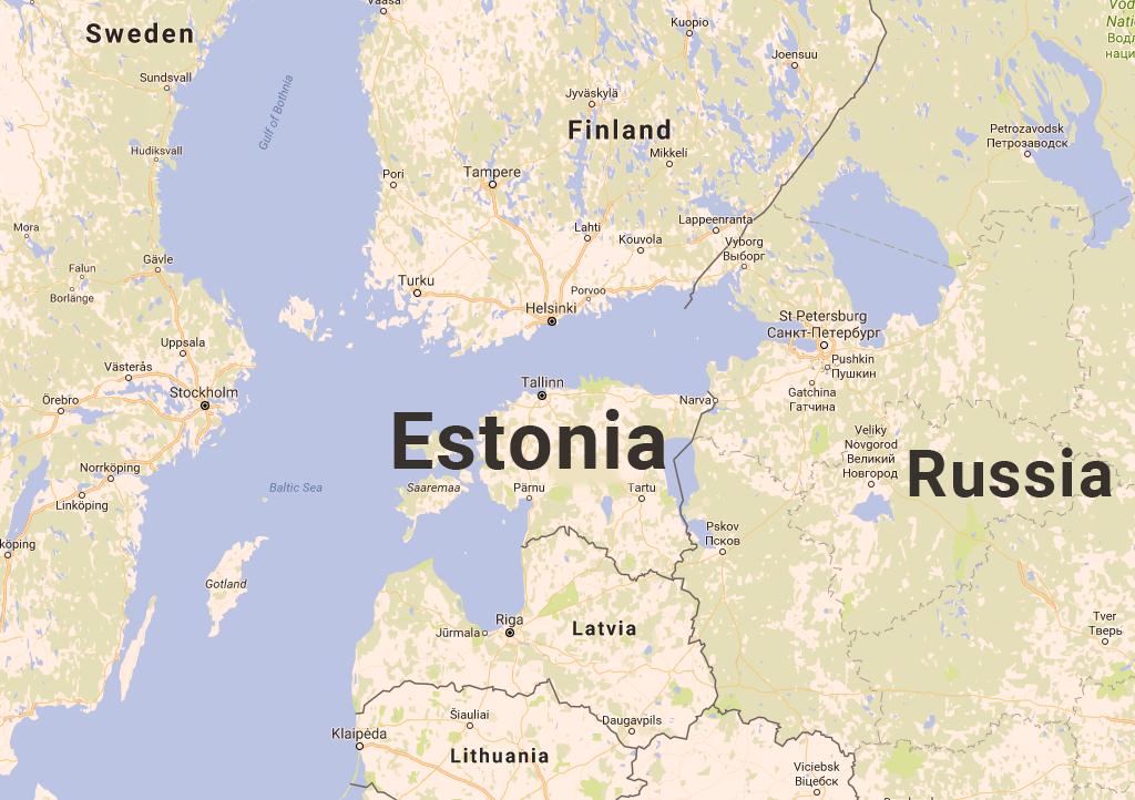 エストニアの地図