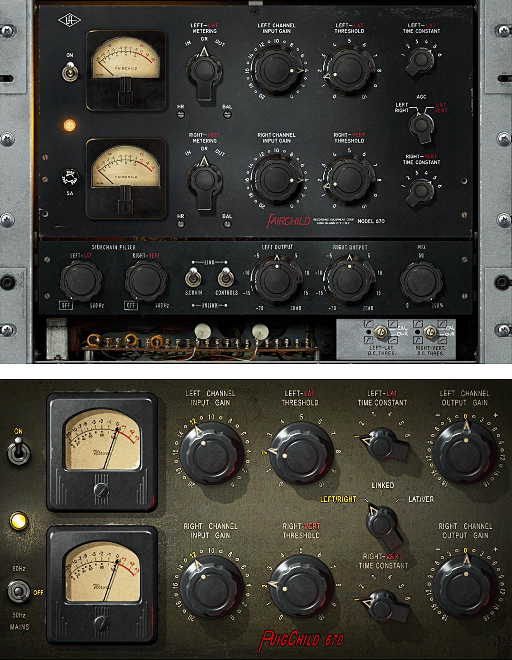 Fairchild670のUniversal Audio版とWaves版