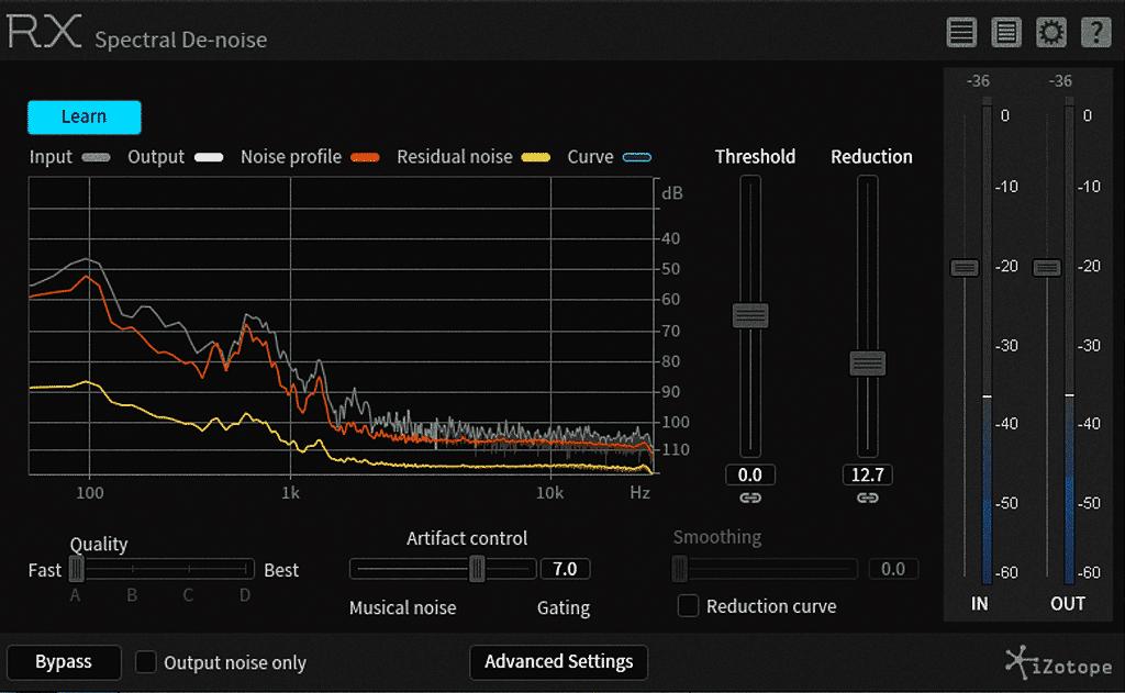 """iZotope """"RX Spectral De-Noise"""""""