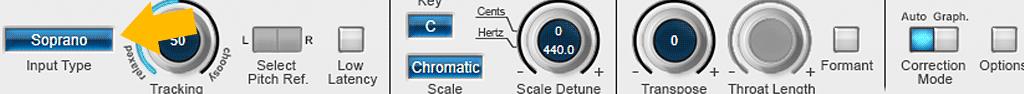 Auto-Tune-8の使い方-Input Type