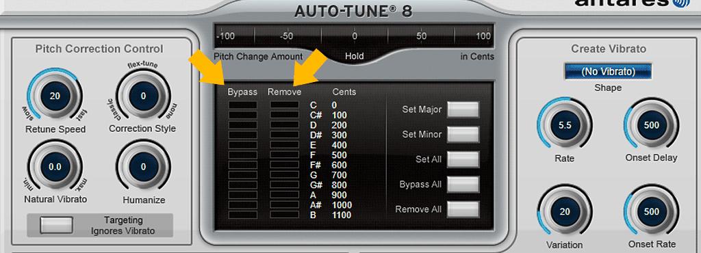 Auto-Tune-8の使い方-Remove/Bypass