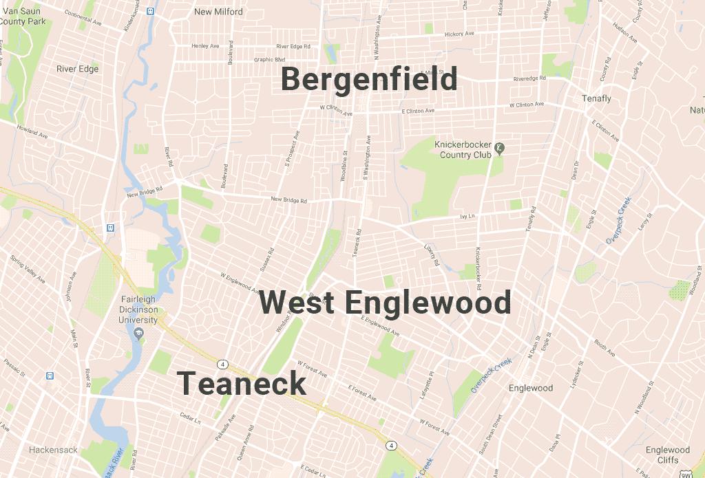Pultec の歴史_ニュージャージー州、ティーネックのの地図