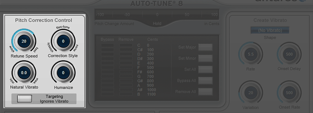 Auto-Tune-8の使い方-Pitch Correction Control