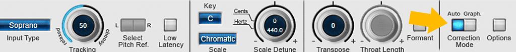 Auto-Tune-8の使い方-Correction Mode