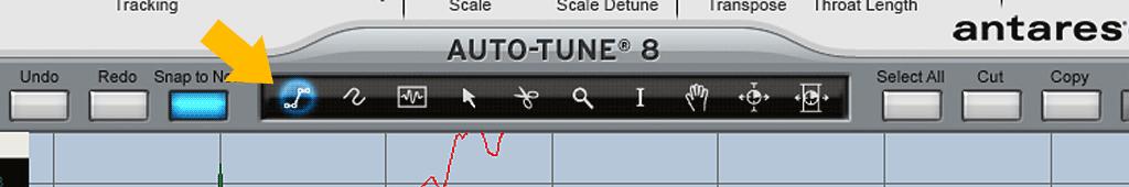 Auto-Tune-8の使い方-直線ツール