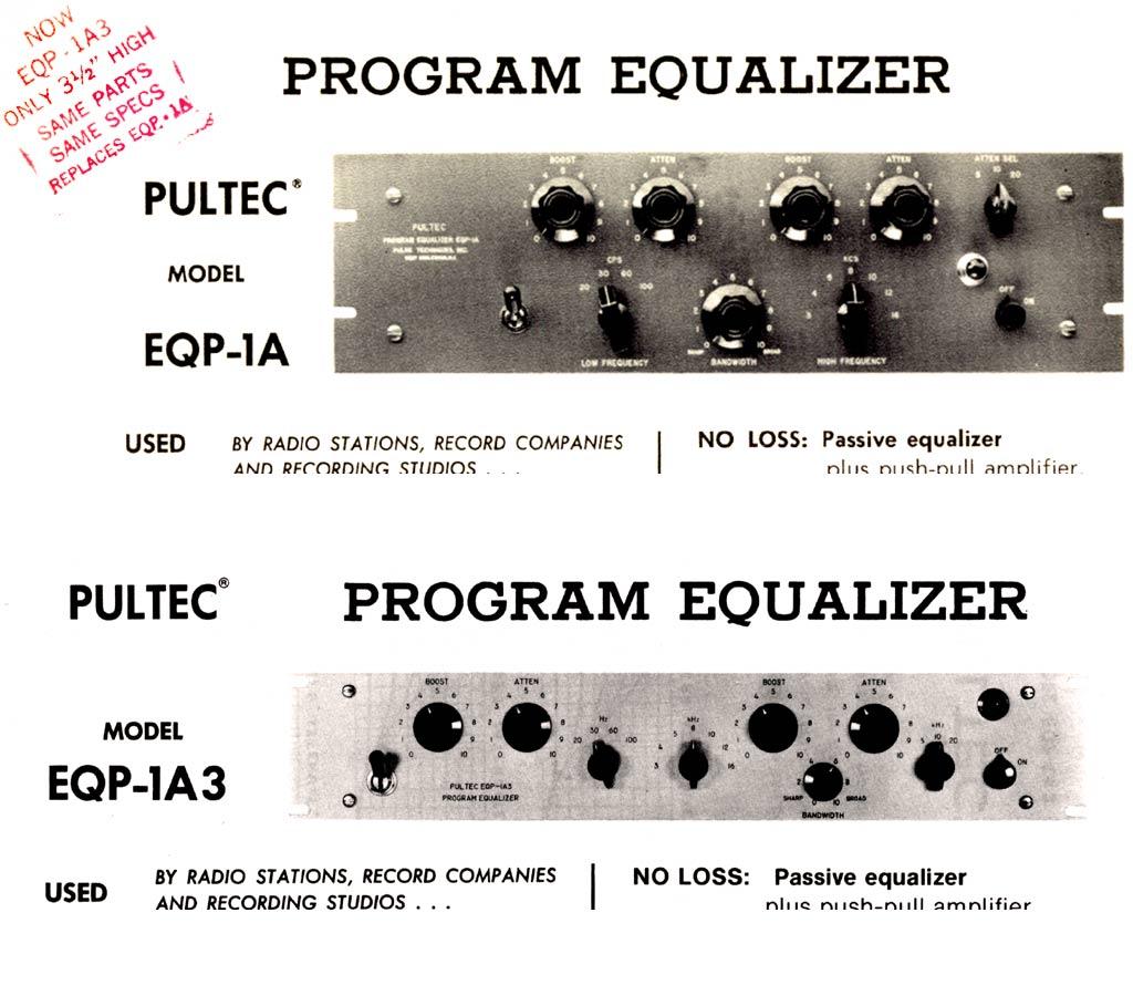 Pultec の歴史_EQP-1AとEQP-1A3