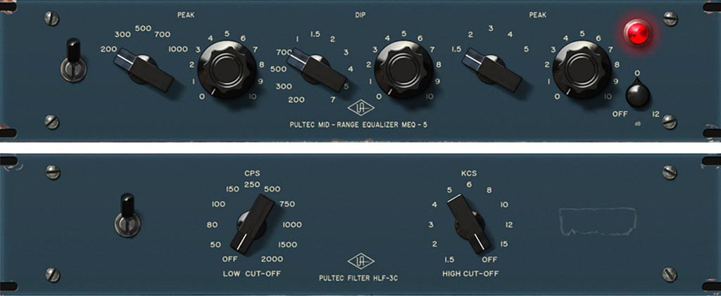Pultec の歴史_Universal-Audio-MEQ-5-and-HLF-3C