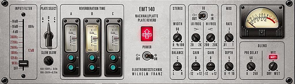 """Universal Audioによるプレートリバーブのシミュレート・プラグイン、""""EMT 140"""""""