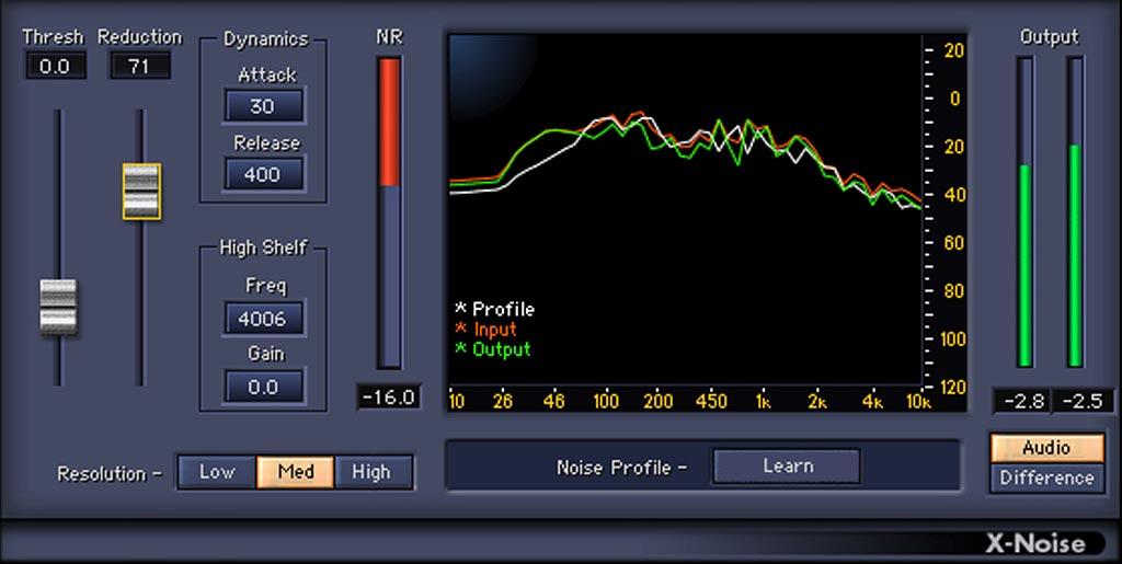 """ノイズ・リダクション・プラグイン """"Waves X-Noise"""""""