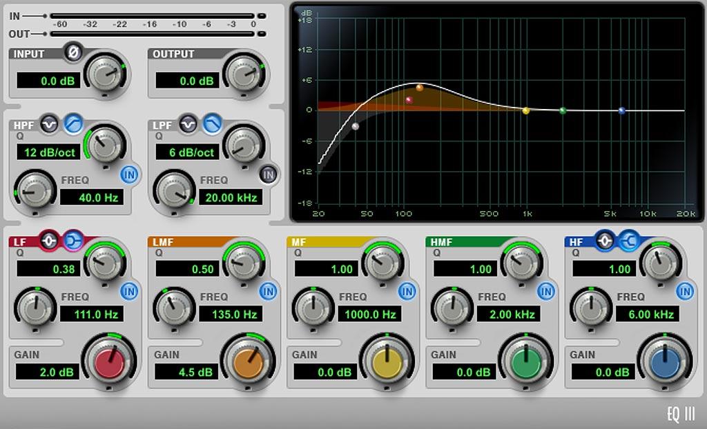 ProTools EQ7 ボーカル用 低域処理