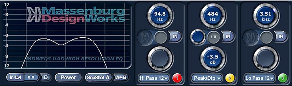 "Universal Audio ""Massenburg EQ""によるリバーブ音のカット"