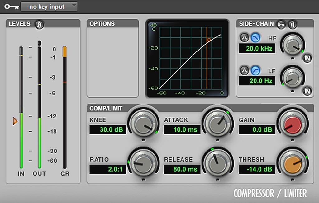 ピッチ修正前の下処理:ボーカルのコンプ処理