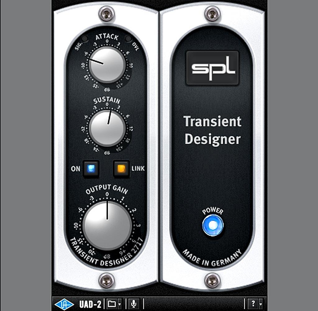 "Universal Audioの""SPL Transient Designer""によるリバーブ・アタックの制御"