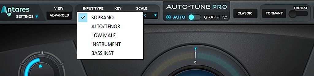 Auto-Tune Pro : INPUT TYPE