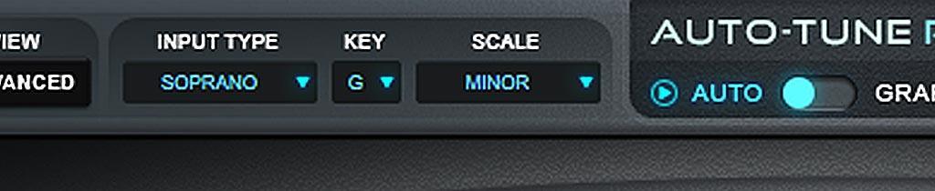 Auto-Tune Pro : KEY and SCALE
