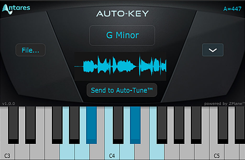 ボーカルの音程修正:AUTO-KEY の調整判定