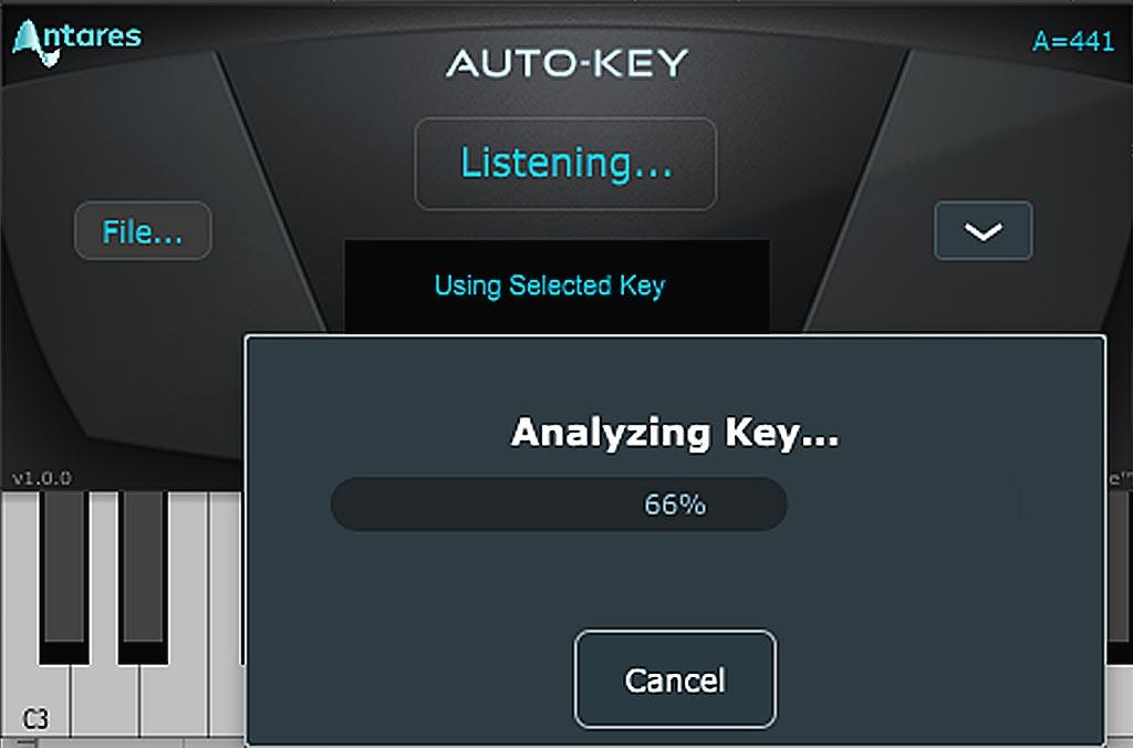 ピッチ修正の下準備:AUTO-KEYによる外部ファイルのキー判定