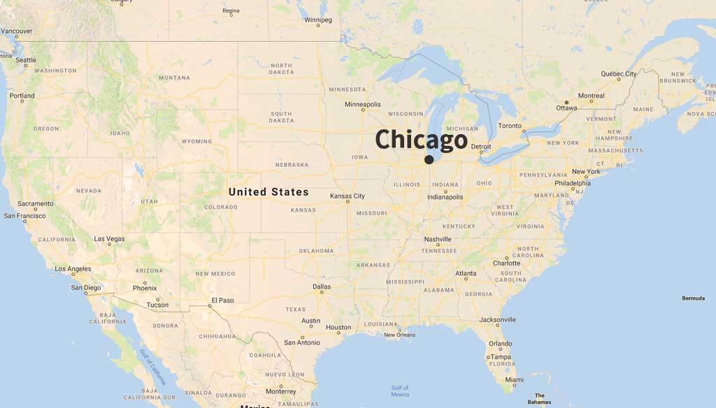 イリノイ州シカゴの地図